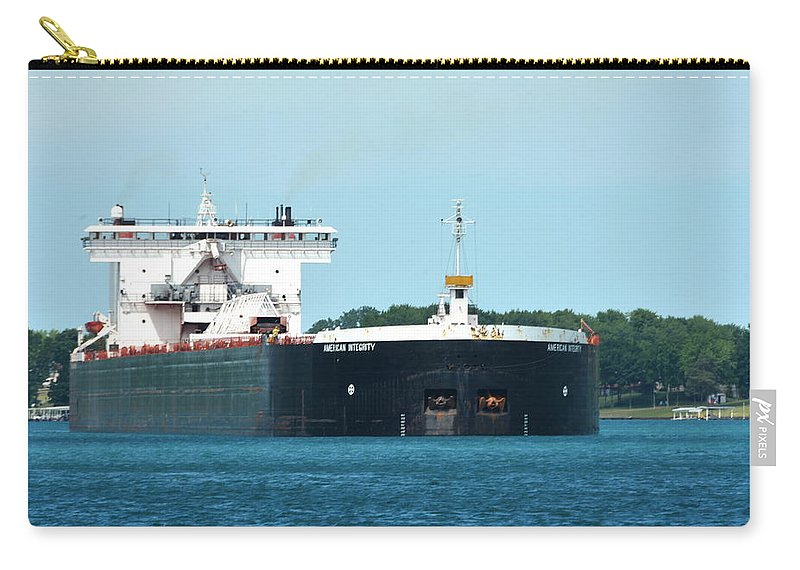 Ship Carry-all Pouch featuring the photograph American Integrity Ship by Stephen Path