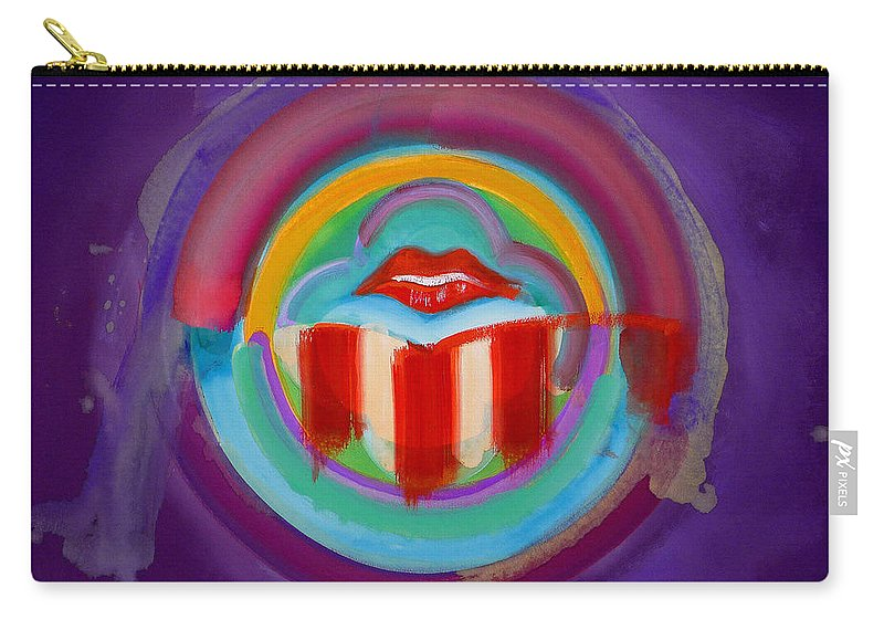 Button Carry-all Pouch featuring the painting American Kiss by Charles Stuart