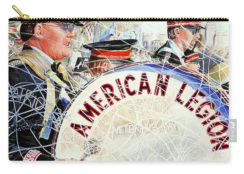 American Legion Carry-all Pouch featuring the painting American Legion by Carolyn Coffey Wallace