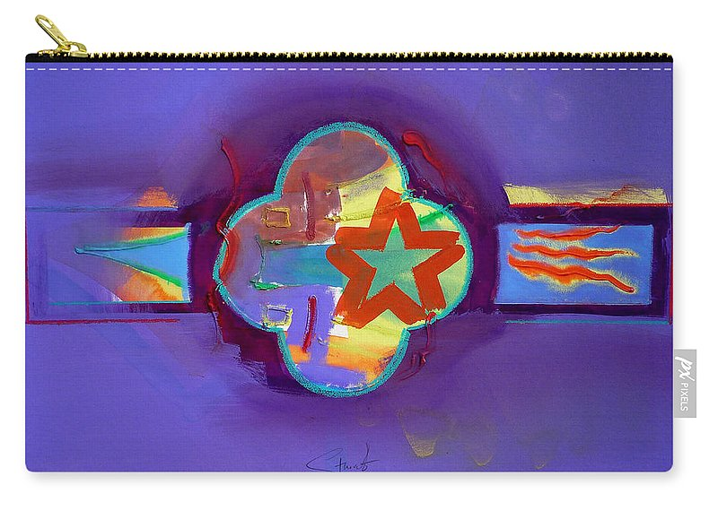 Star Carry-all Pouch featuring the painting American Neon by Charles Stuart