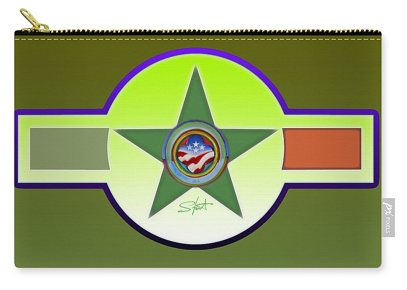 Insignia Carry-all Pouch featuring the painting American Olive by Charles Stuart