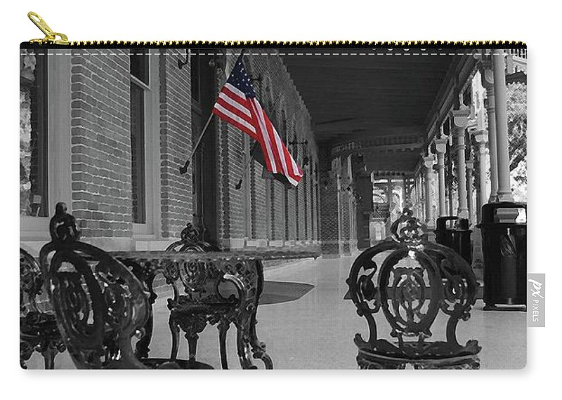 University Carry-all Pouch featuring the photograph American Past by Jost Houk