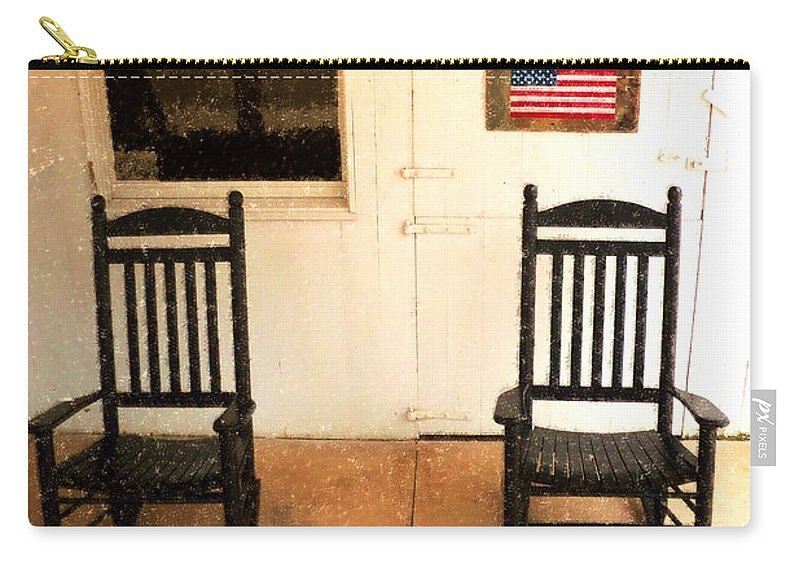 Americana Carry-all Pouch featuring the photograph American Porch by Desiree Paquette