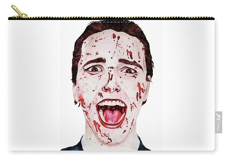 Blood Carry-all Pouch featuring the painting American Psycho by Alyssa Torres