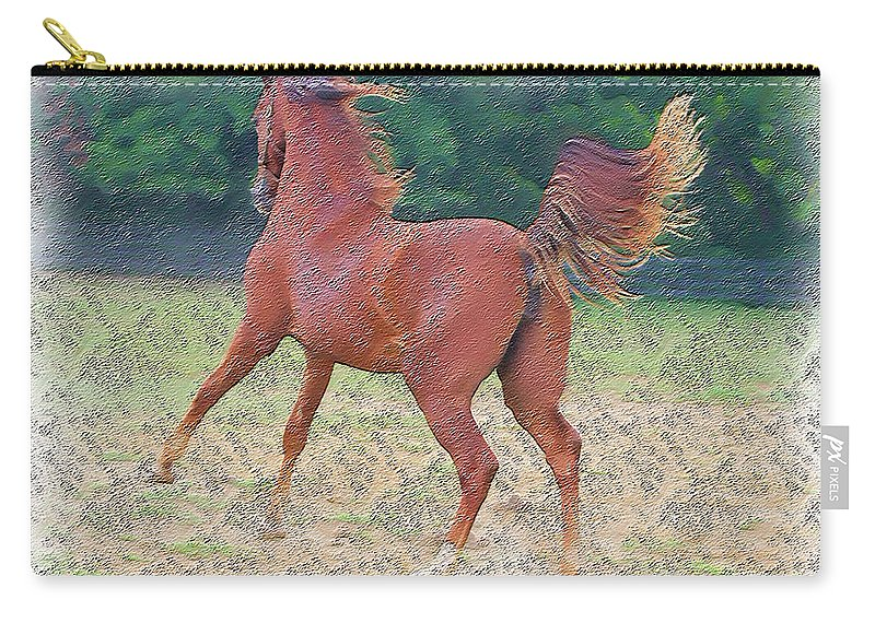 Horse Carry-all Pouch featuring the photograph American Saddlebred Filly by Ericamaxine Price