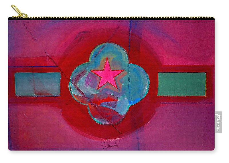 Star Carry-all Pouch featuring the painting American Spiritual Decal by Charles Stuart