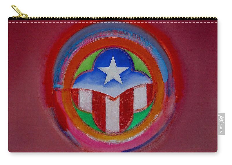 Button Carry-all Pouch featuring the painting American Star Button by Charles Stuart