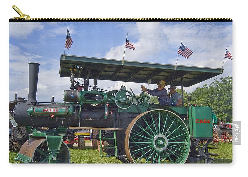 American Carry-all Pouch featuring the photograph American Steam Roller by Robert Ponzoni