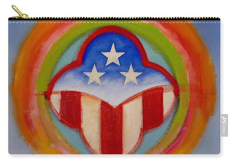 Logo Carry-all Pouch featuring the painting American Three Star Landscape by Charles Stuart