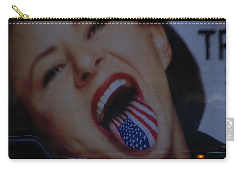 American Flag Carry-all Pouch featuring the photograph American Tounge by Rob Hans