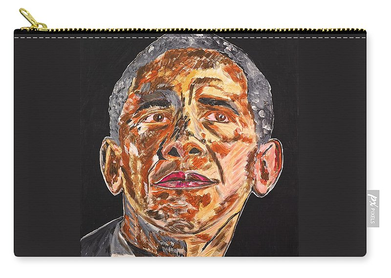 American Carry-all Pouch featuring the painting American by Valerie Ornstein