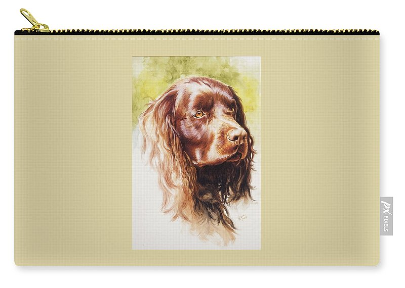 Sporting Carry-all Pouch featuring the painting American Water Spaniel by Barbara Keith