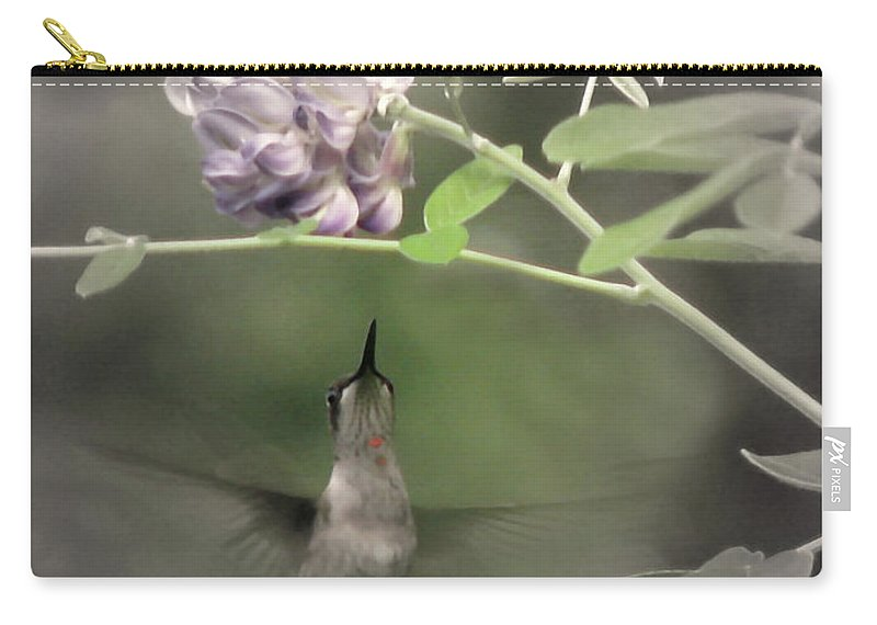 Nature Carry-all Pouch featuring the photograph American Wisteria by Peg Urban