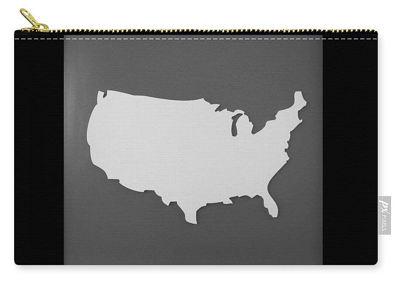 Black And White Carry-all Pouch featuring the photograph Amerika by Rob Hans