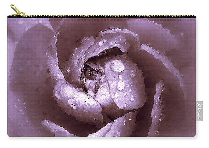 Flower Carry-all Pouch featuring the photograph Amethyst by Jessica Jenney