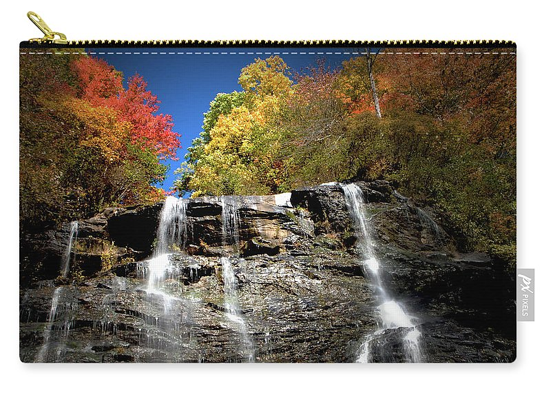 Amicalola Carry-all Pouch featuring the photograph Amicalola Falls by Dick Goodman