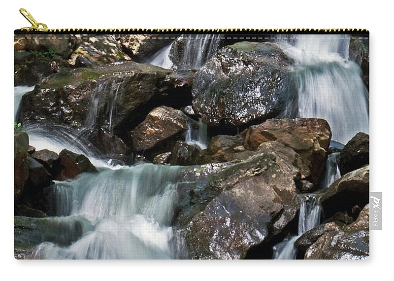 Waterfalls Carry-all Pouch featuring the photograph amicalola falls Ga by David Campbell