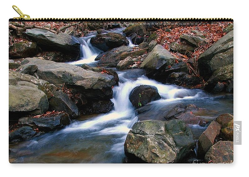 Water Carry-all Pouch featuring the photograph Amicalola Stream by Robert Meanor