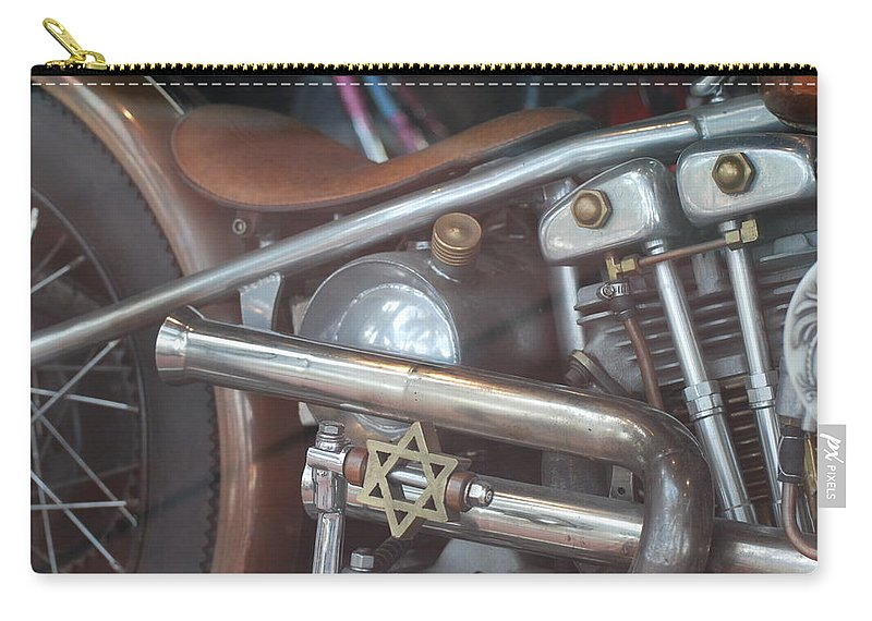 Motorcycle Carry-all Pouch featuring the photograph Ami's Bike by Rob Hans