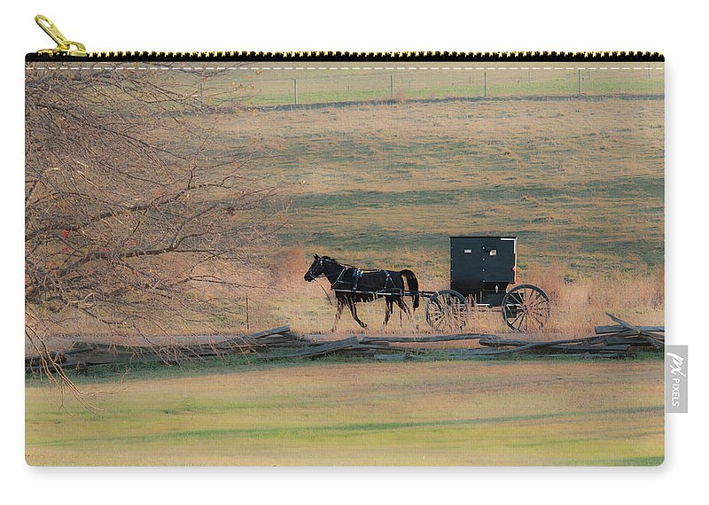 Amish Carry-all Pouch featuring the photograph Amish Dream by David Arment