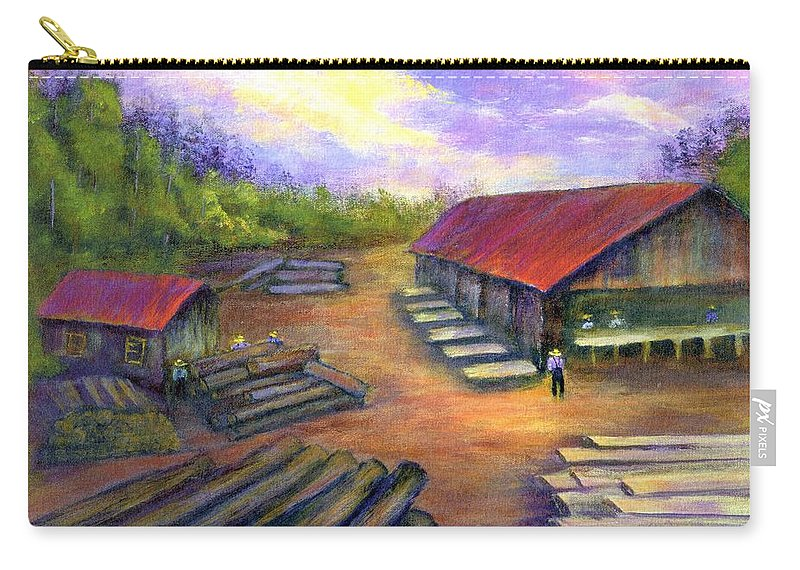 Amish Carry-all Pouch featuring the painting Amish Lumbermill by Gail Kirtz