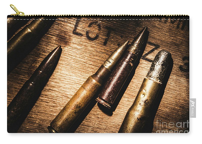 Ammo Carry-all Pouch featuring the photograph Ammo Supplies by Jorgo Photography - Wall Art Gallery