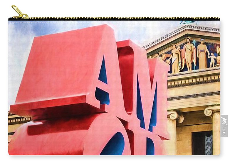 Alicegipsonphotographs Carry-all Pouch featuring the photograph Amor In Blue by Alice Gipson