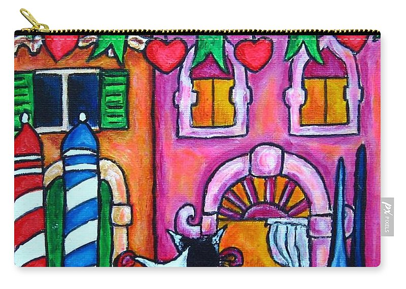 Cats Carry-all Pouch featuring the painting Amore In Venice by Lisa Lorenz