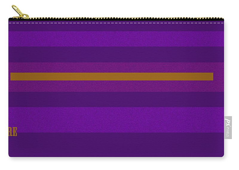 Amore Carry-all Pouch featuring the digital art Amore Purple by Anne Cameron Cutri