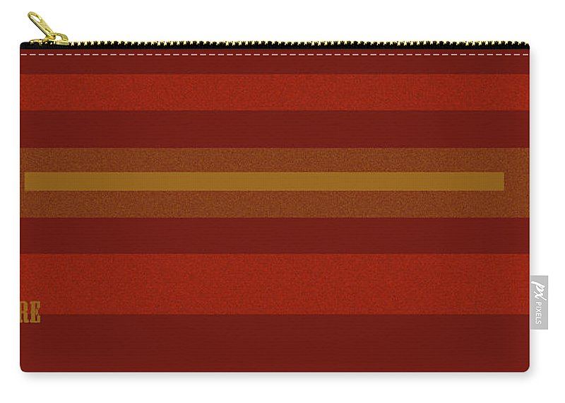 Amore Carry-all Pouch featuring the digital art Amore Red by Anne Cameron Cutri