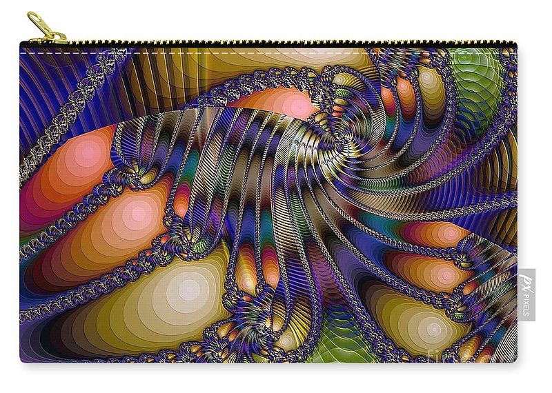Shrimp Carry-all Pouch featuring the digital art Amphipod by Ron Bissett