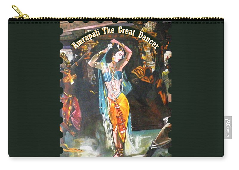 Wallpaper Carry-all Pouch featuring the painting Amrapali by Artist Nandika Dutt