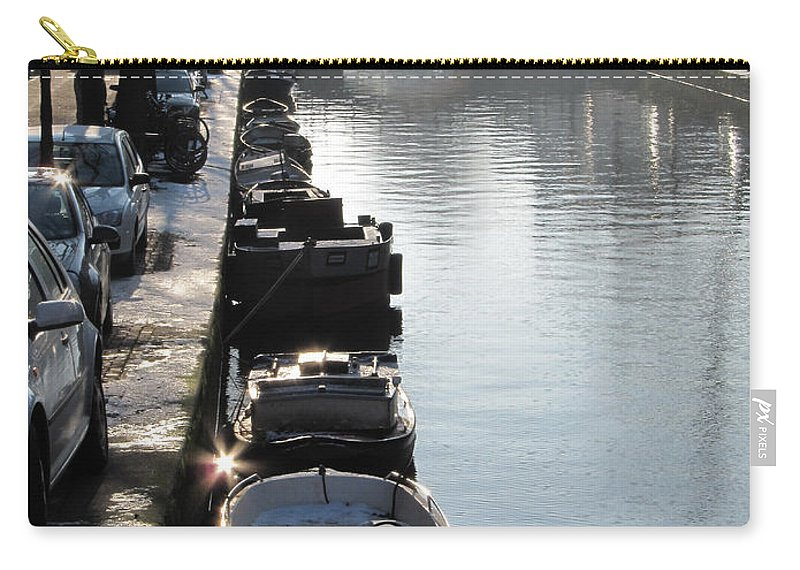 Winter Carry-all Pouch featuring the photograph Amsterdam Canal In Winter by Casper Cammeraat