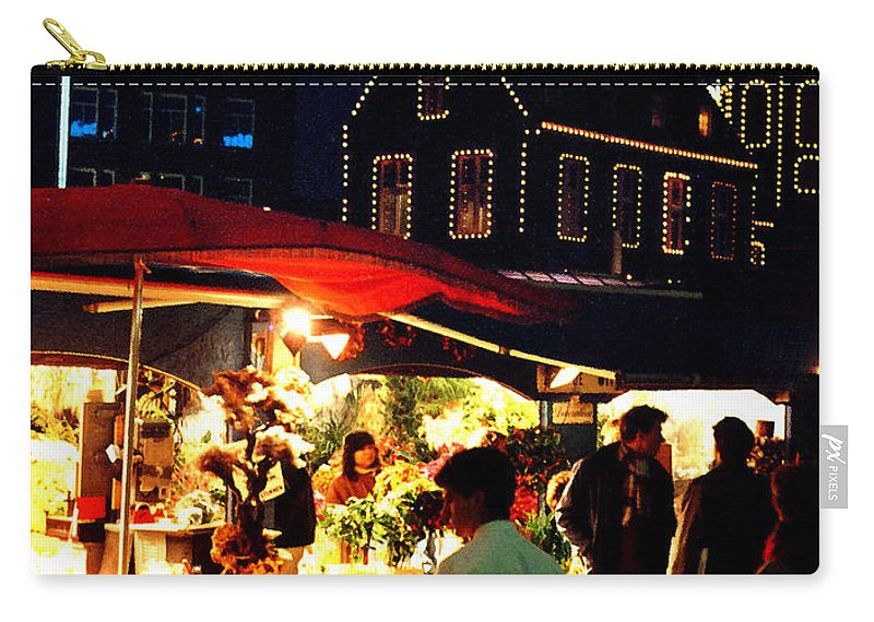 Flowers Carry-all Pouch featuring the photograph Amsterdam Flower Market by Nancy Mueller