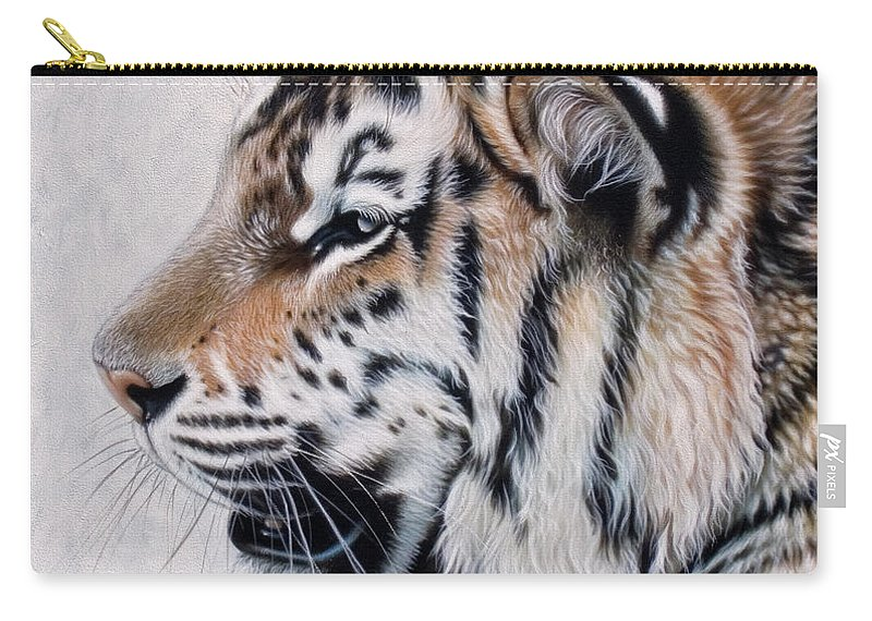 Acrylic Carry-all Pouch featuring the painting Amur by Sandi Baker