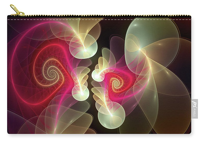 Abstract Carry-all Pouch featuring the digital art Amusement by Casey Kotas