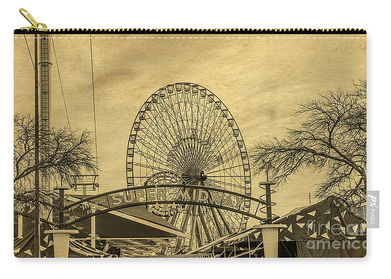Amusement Park Carry-all Pouch featuring the photograph Amusement Park Vintage by Tod and Cynthia Grubbs