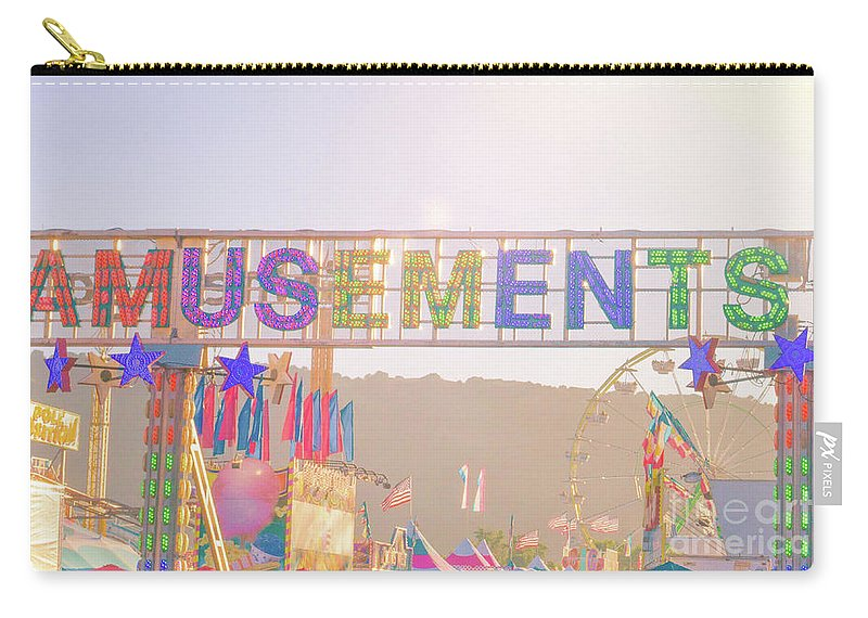 Amusement Carry-all Pouch featuring the photograph Amusements by Cindy Garber Iverson