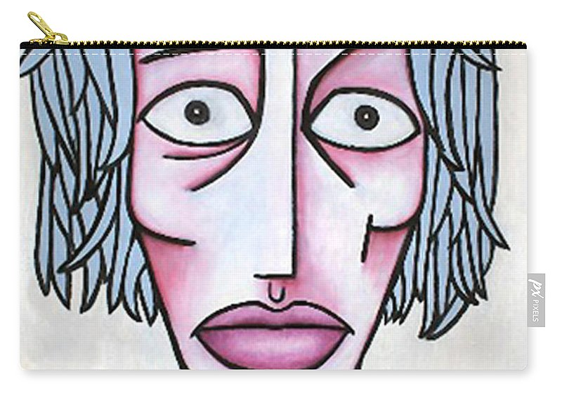 Potrait Carry-all Pouch featuring the painting amy by Thomas Valentine