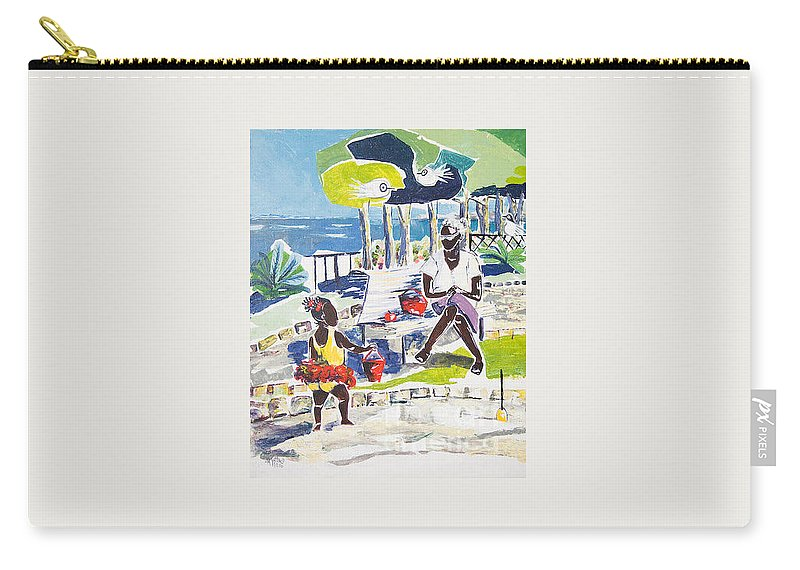 Acrylic Carry-all Pouch featuring the painting An Afternoon With Her... by Elisabeta Hermann