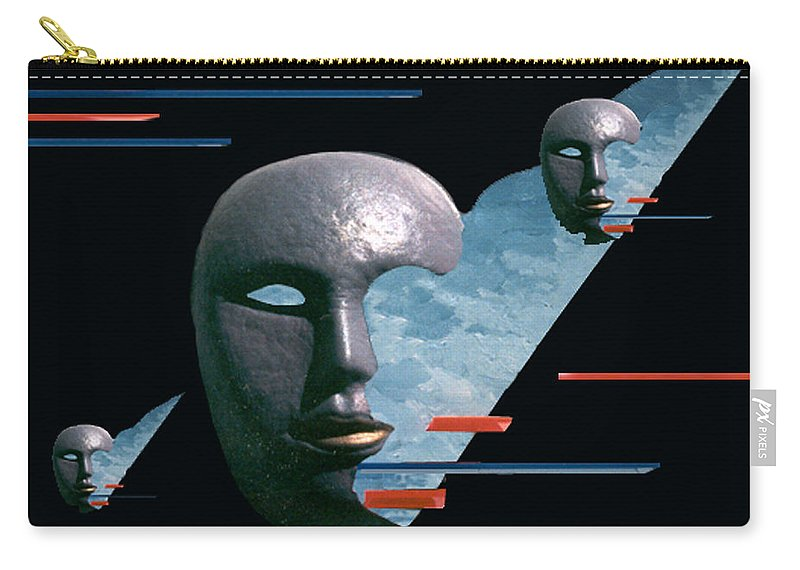 Surreal Carry-all Pouch featuring the digital art An Androids Dream by Steve Karol