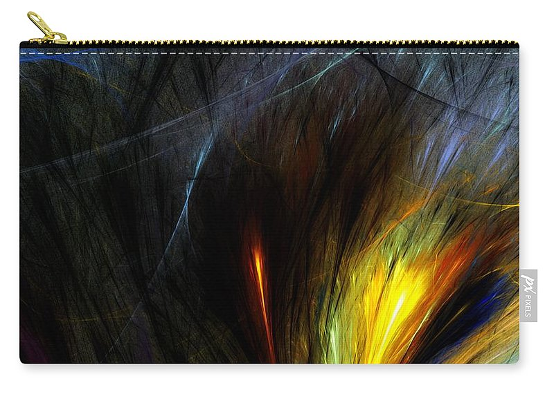 Digital Painting Carry-all Pouch featuring the digital art An Angry Moment by David Lane