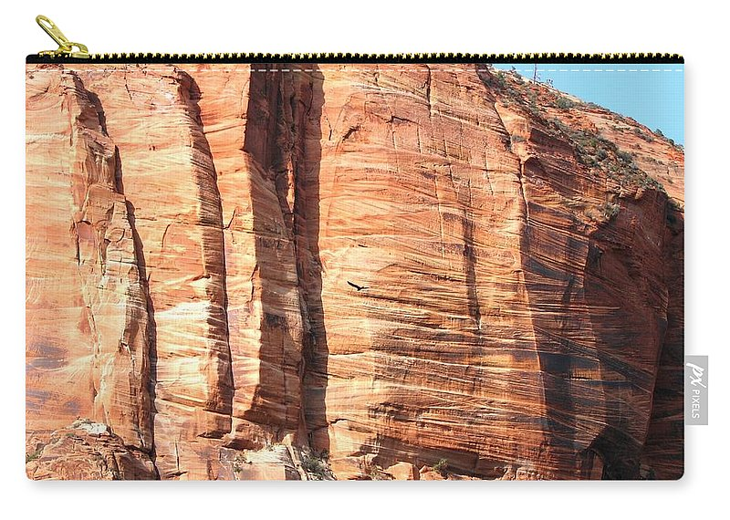 An Eagle Soars Carry-all Pouch featuring the photograph An Eagle Soars by Will Borden
