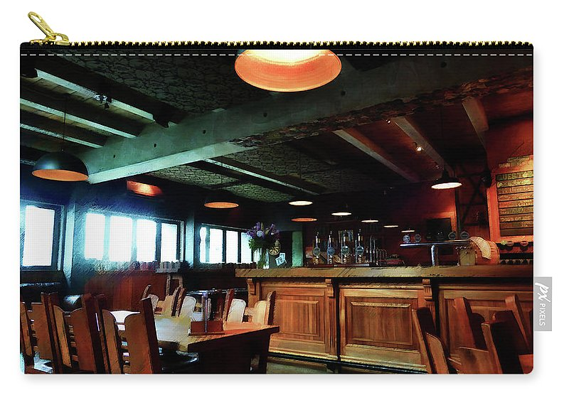 Bar Carry-all Pouch featuring the digital art An Early Lunch by Steve Taylor