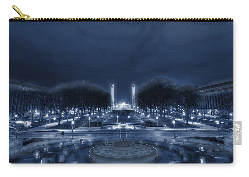 Capitol Carry-all Pouch featuring the photograph An Evening At The Capitol by Shelley Neff