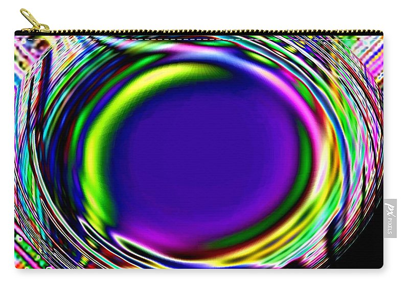Abstract Carry-all Pouch featuring the digital art An Eye For Color by Will Borden
