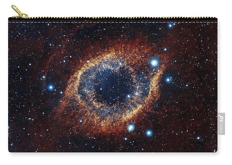 Space Carry-all Pouch featuring the photograph A Look In Infrared At The Helix Nebula by Nasa