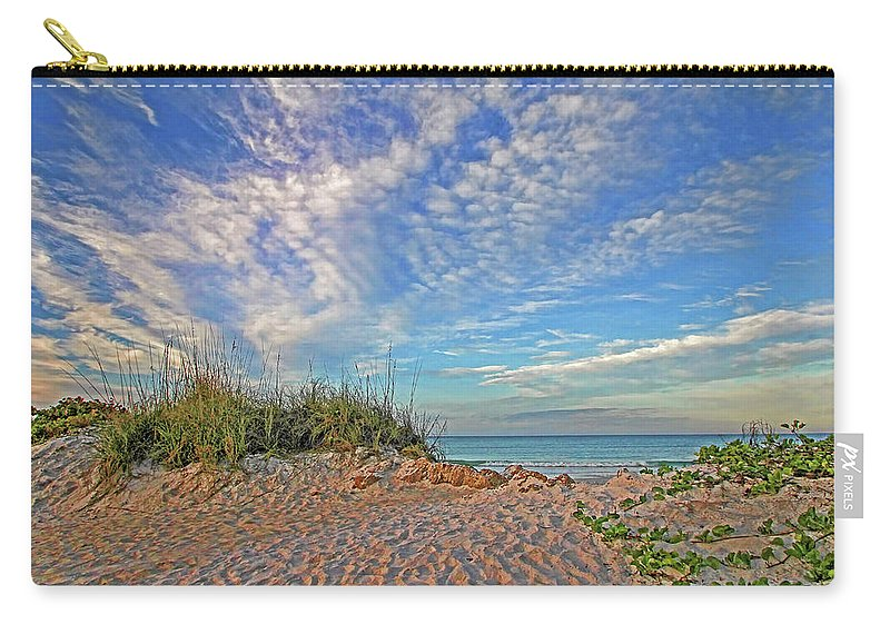 Hh Photography Of Florida Carry-all Pouch featuring the photograph An Invitation - Florida Seascape by HH Photography of Florida