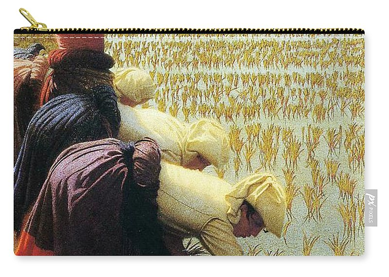 Italian Carry-all Pouch featuring the painting An Italian Rice Field by Angelo Morbelli