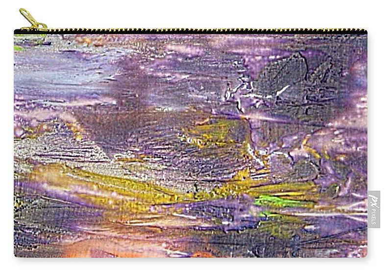 Old Board Carry-all Pouch featuring the painting An Old Board by Dragica Micki Fortuna